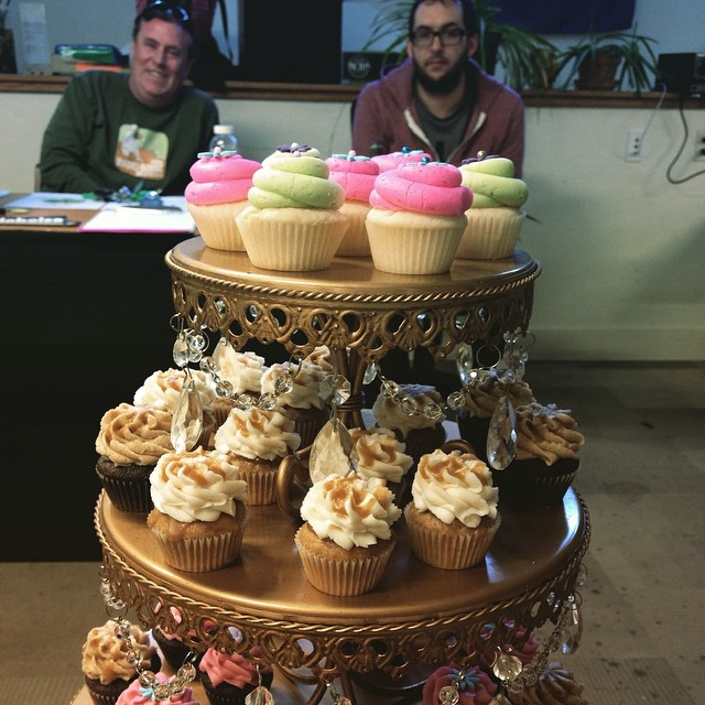 Look at Brian and Thomas eyeing those cupcakes. Thanks to…