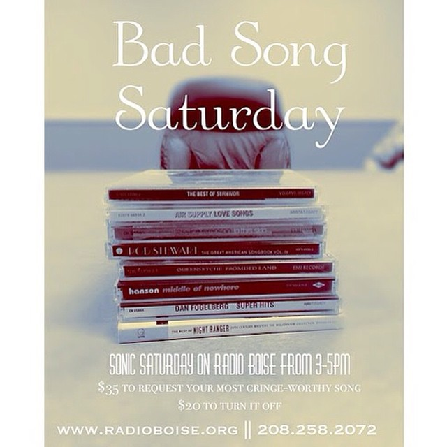 It's a Radiothon tradition for Sonic Saturday (3-5pm): Bad Song…