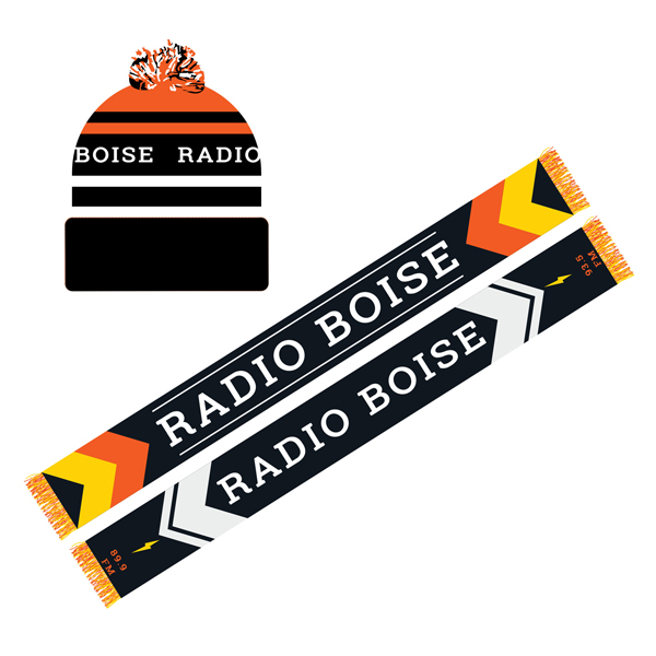 Radio Boise Hat and Scarf, Fall Radiothon 2017