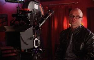 David Klein on the set of True Blood