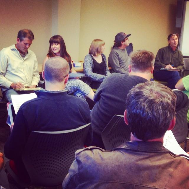 Volunteer meeting underway at the #BoisePublicLibrary, third floor. #Radiothon