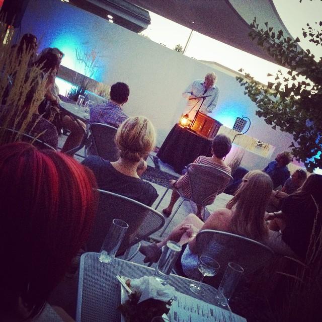 Campfire Stories @ModernHotel - packed house - listening to Martin Corless-Smith. Up next Christian Winn