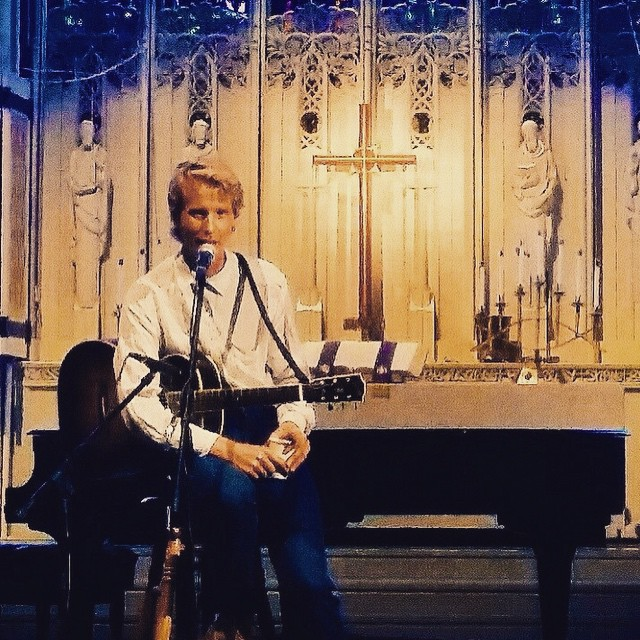 Tom Brosseau was heavenly at the Cathedral last night during…