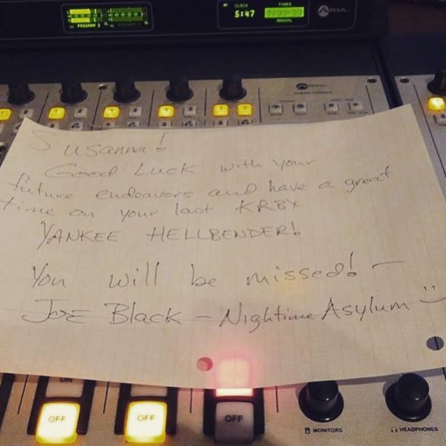 Joe Black of Nightime Asylum left this note for Susanna,…