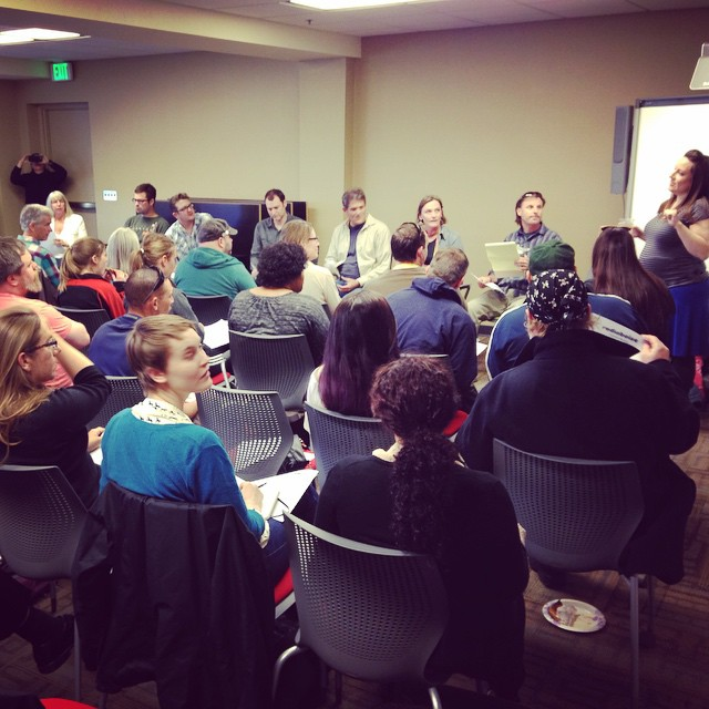 Full house for @radioboise All Volunteer Meeting - this is…