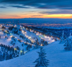 Bogus Basin at Sunset. Photo by Chad Case.