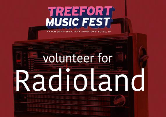 Volunteer for Radio Boise's Radioland during Treefort Music Fest 2017