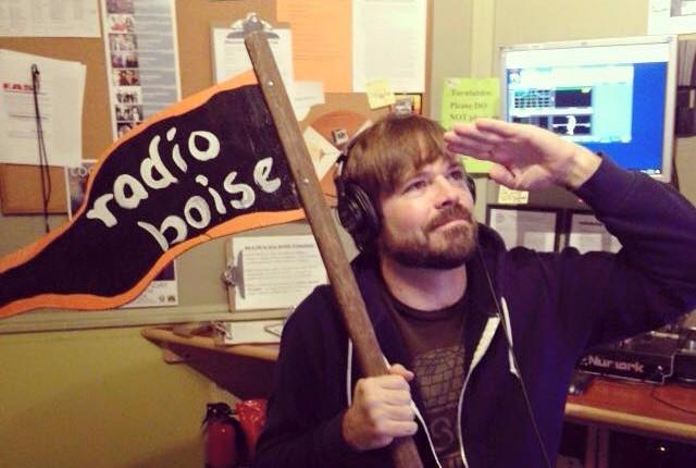 Gilbert and the Radio Boise flag!
